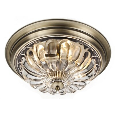 Hallenbeck 4-Light Flush Mount Fixture Finish: Antique Bronze