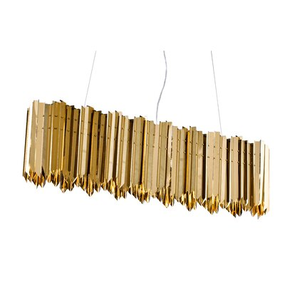 Kelm Stainless Steel Spike Frame 8-Light Pendant