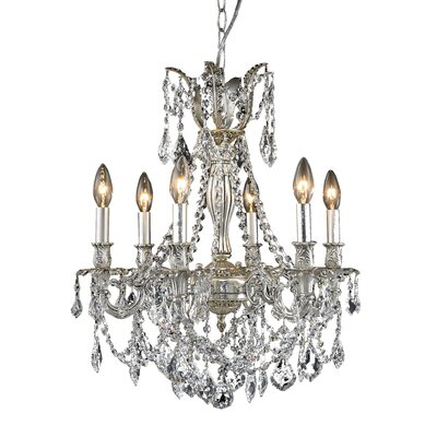 Elyza 6-Light Crystal Chandelier
