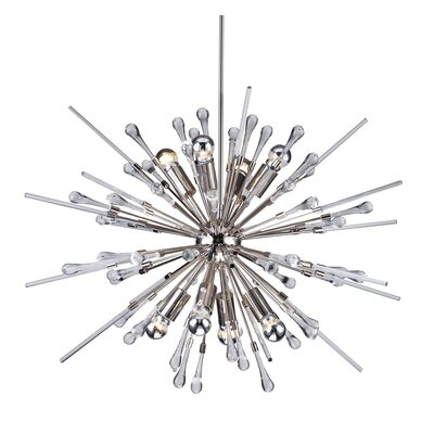 Kelson Crystal Spike 8-Light Sputnik Chandelier