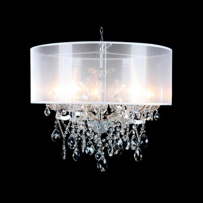 Emilee 5-Light Drum Chandelier Finish: Crystal