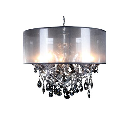 Emilee 5-Light Drum Chandelier Finish: Smoke