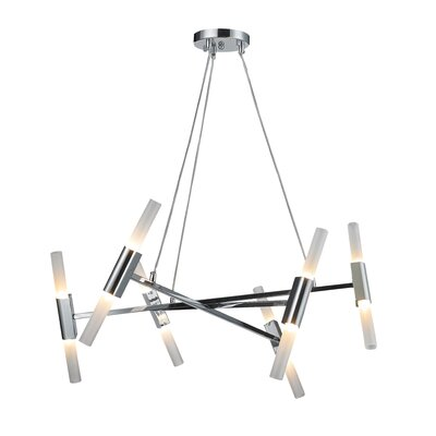 Kelton Round Frame 12-Light Sputnik Chandelier Finish: Chrome