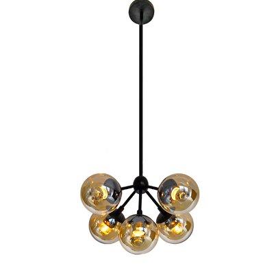 Wildwood Bulb Glass 5-Light Sputnik Chandelier