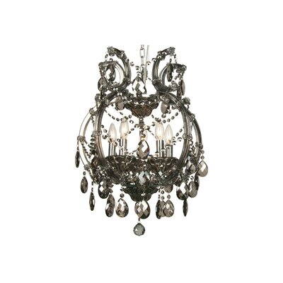5-Light Crystal Chandelier Crystal Color: Smoke