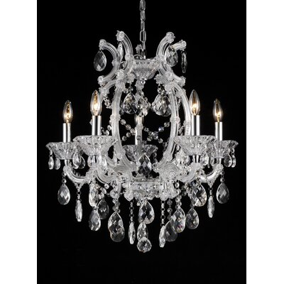 5-Light Crystal Chandelier Finish: Clear