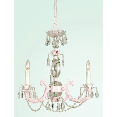 SU Series 3-Light Mini Chandelier Finish: Pink