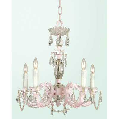 SU Series 5-Light Candle-Style Chandelier Finish: White