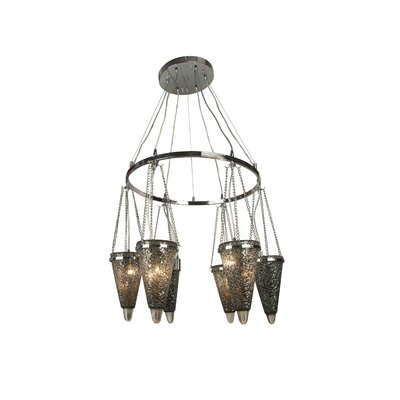 PF Series 6-Light Cluster Pendant