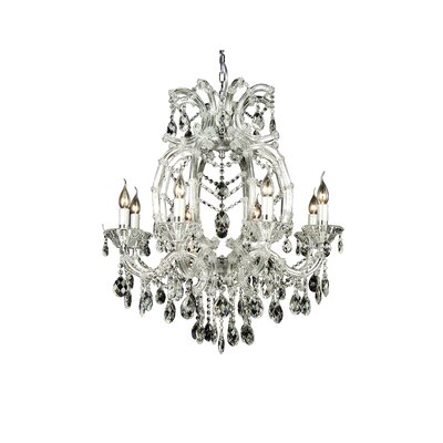 4307 Series 8-Light Candle-Style Chandelier Crystal Color: Clear