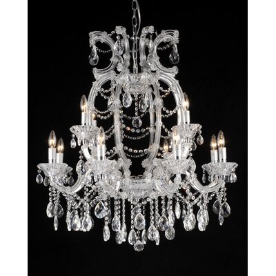 12-Light Crystal Chandelier Crystal Color: Clear
