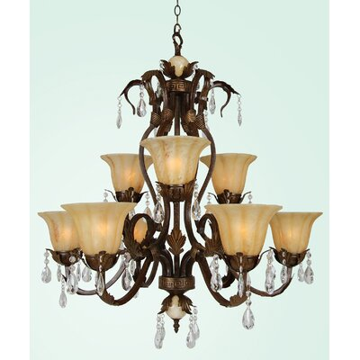 YS Series 9-Light Shaded Chandelier