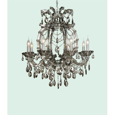 4307 Series 8-Light Candle-Style Chandelier Crystal Color: Smoke