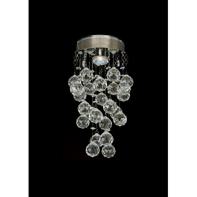 LX Series 1 Light Crystal Chandelier