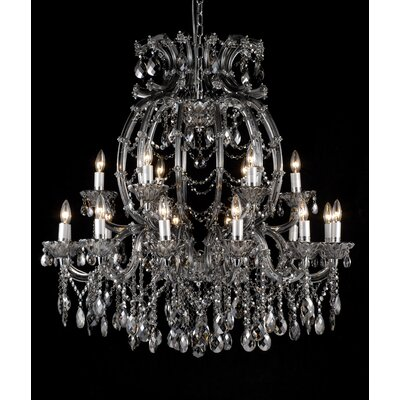 18-Light Crystal Chandelier Crystal Color: Smoke