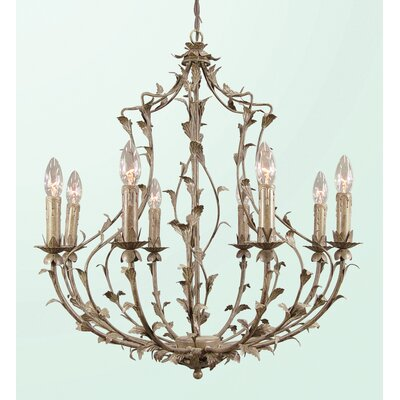 RT Series 8-Light Candle-Style Chandelier