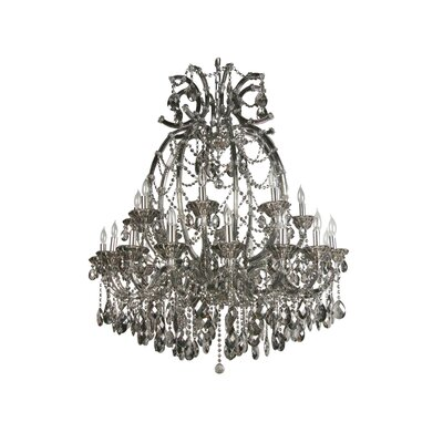 4307 Series 24-Light Crystal Chandelier Crystal Color: Smoke