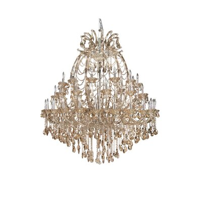 4307 Series 48-Light Crystal Chandelier Crystal Color: Smoke