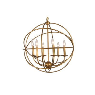 YS Series 6-Light Globe Pendant