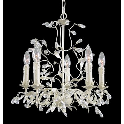 RT Series 5-Light Candle-Style Chandelier Finish: Silver