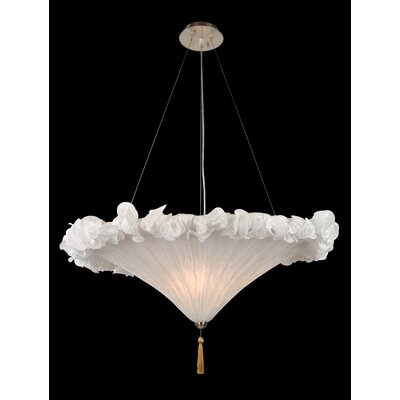 GA Series 3-Light Bowl Pendant Shade Color: White