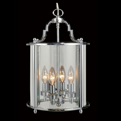 AB Series 4-Light Foyer Pendant Finish: Chrome