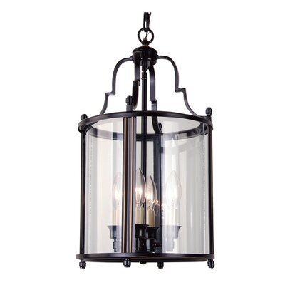 AB Series 4-Light Foyer Pendant Finish: Bronze