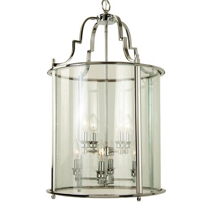 AB Series 8-Light Foyer Pendant Finish: Chrome