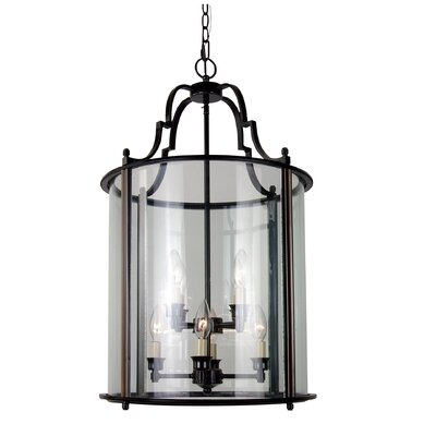 AB Series 8-Light Foyer Pendant Finish: Bronze