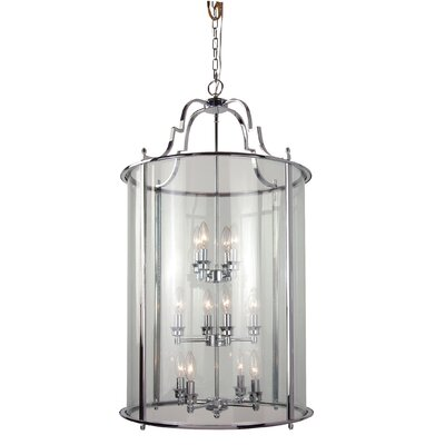AB Series 12-Light Foyer Pendant Finish: Chrome