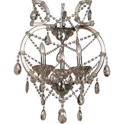 4307 Series 3-Light Mini Chandelier Crystal Color: Champagne