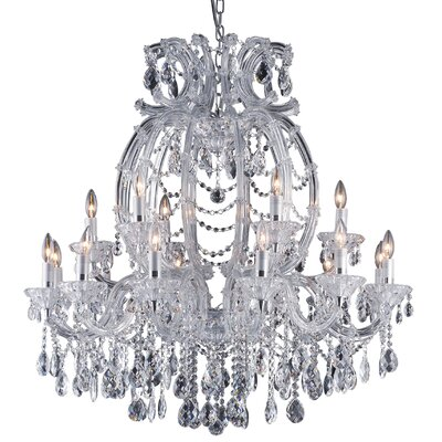 18-Light Crystal Chandelier Crystal Color: Clear