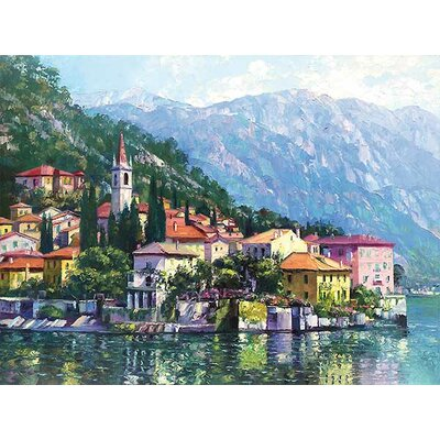 Reflections of Lake Como by Howard Behrens on Canvas Size: 24