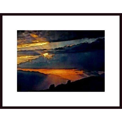 'High Sierra Sunset' by John Nakata Framed Photographic Print 447775S61:BLK,CW,WTW
