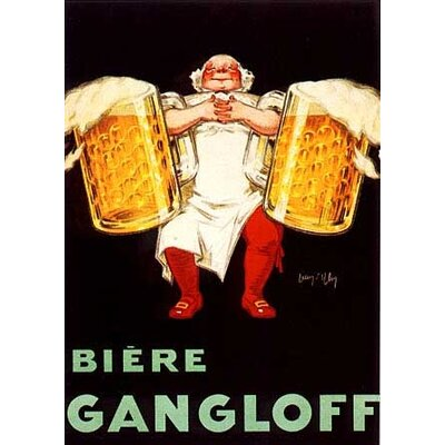 'Biere Gangloff' by Biere Gangloff Vintage Advertisement on Wrapped Canvas Size: 54
