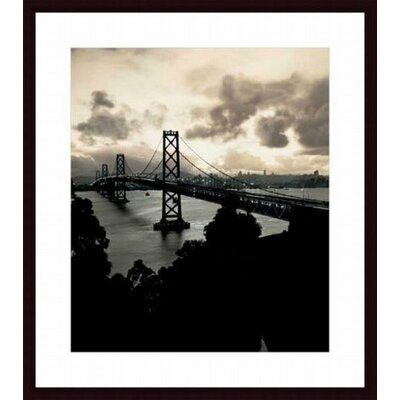 'San Francisco-Oakland Bay Bridge, c. 1938' by Mansell Collection Framed Photographic Print Mat Color: White, Frame Color: Black