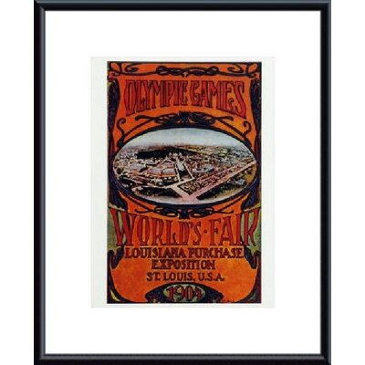 barewalls Worlds Fair 1904 Metal Framed Art Print - Frame Color: Black, Matte Color: White at Sears.com