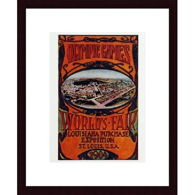 barewalls Worlds Fair 1904 Wood Framed Art Print - Matte Color: White, Frame Color: Black at Sears.com