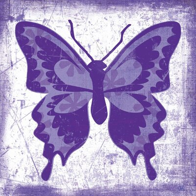 Butterfly Purple Pop Gallery Wrapped Canvas Art