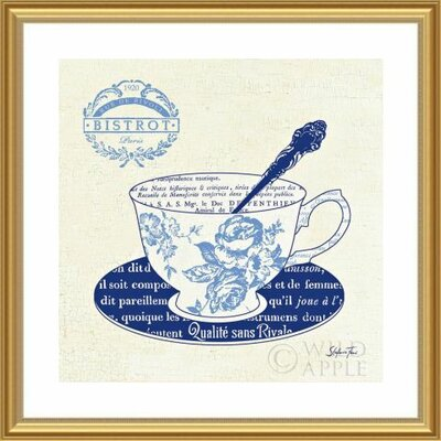 'Blue Cups I' by Stefania Ferri Framed Graphic Art 488436S61:GLD,CW,WTW