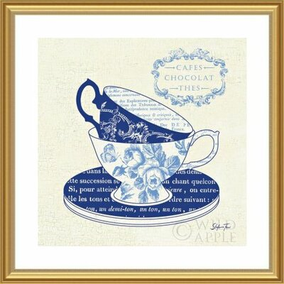 'Blue Cups II' by Stefania Ferri Framed Graphic Art 488437S61:GLD,CW,WTW