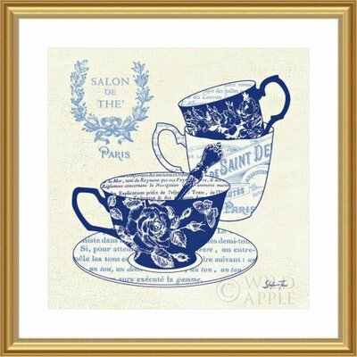 'Blue Cups IV' by Stefania Ferri Framed Graphic Art 488439S61:GLD,CW,WTW