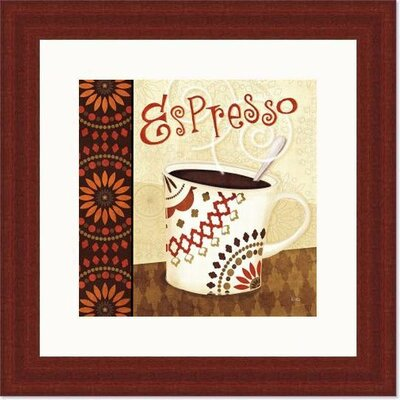 'Cup of Joe I' by Veronique Charron Framed Vintage Advertisement 488477S61:MAH,CW,WTW