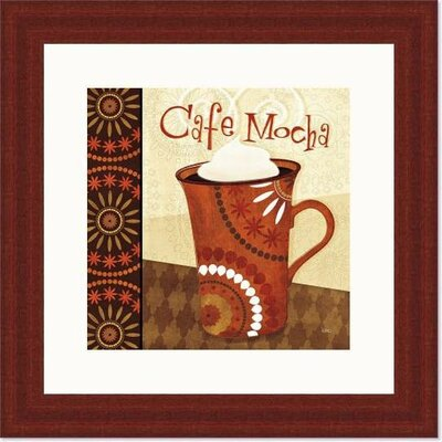 'Cup of Joe III' by Veronique Charron Framed Vintage Advertisement 488479S61:MAH,CW,WTW