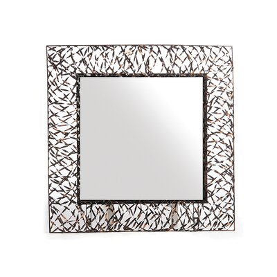 Buy low price new rustics home woven accents woven square for Large square mirror