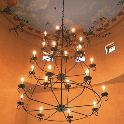 Estrella 24-Light Candle-Style Chandelier