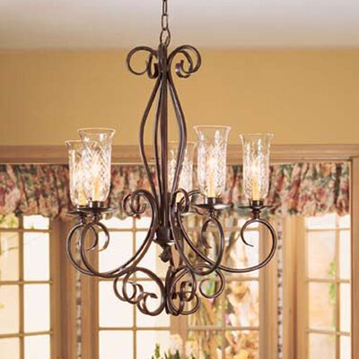 Phillipe 5-Light Candle-Style Chandelier