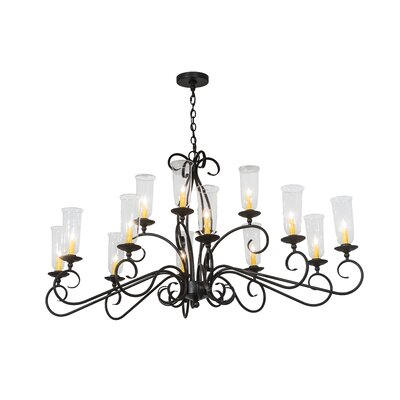 Wallis Oval 14-Light Candle-Style Chandelier