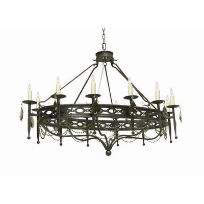 Jasmine 12-Light Candle-Style Chandelier