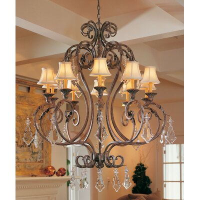Josephine 10-Light Shaded Chandelier